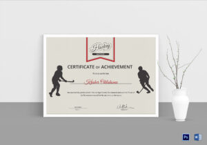 Ice Hockey Achievement Certificate Template pertaining to Hockey Certificate Templates