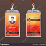 Id Card Corporate Identity. Employee Access Badge Design Throughout Personal Identification Card Template