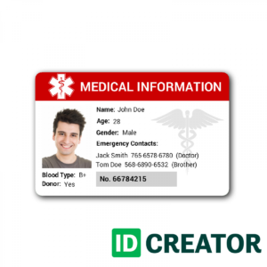 Id Card Template | Madinbelgrade for Hospital Id Card Template