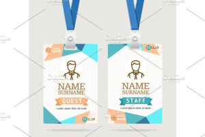 Id Card Template Plastic Badge Id Card Template Abstract with Faculty Id Card Template