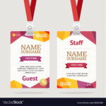 Id Card Template Plastic Badge Pertaining To Conference Id Card Template