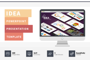 Idea Flat Powerpoint Presentation Template On Behance regarding Powerpoint Presentation Template Size