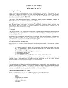 Ideas For Credit Card Privacy Policy Template With Letter pertaining to Credit Card Privacy Policy Template