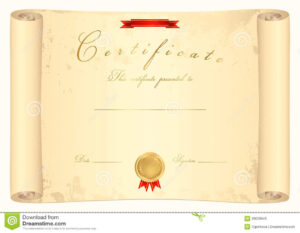 Ideas For Scroll Certificate Templates With Additional for Certificate Scroll Template