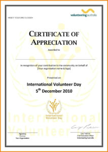 Ideas For Volunteer Award Certificate Template About Format Throughout Volunteer Award Certificate Template