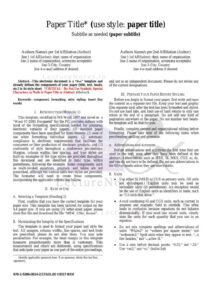 Ieee Paper Sample Format within Template For Ieee Paper Format In Word