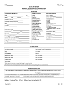 Iep Forms – Fill Online, Printable, Fillable, Blank | Pdffiller inside Blank Iep Template