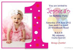 Image For Princess 1St Birthday Invitations | Akshara Within First Birthday Invitation Card Template