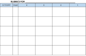 Image Result For Blank Rubric Template Editable | Workin It in Blank Rubric Template