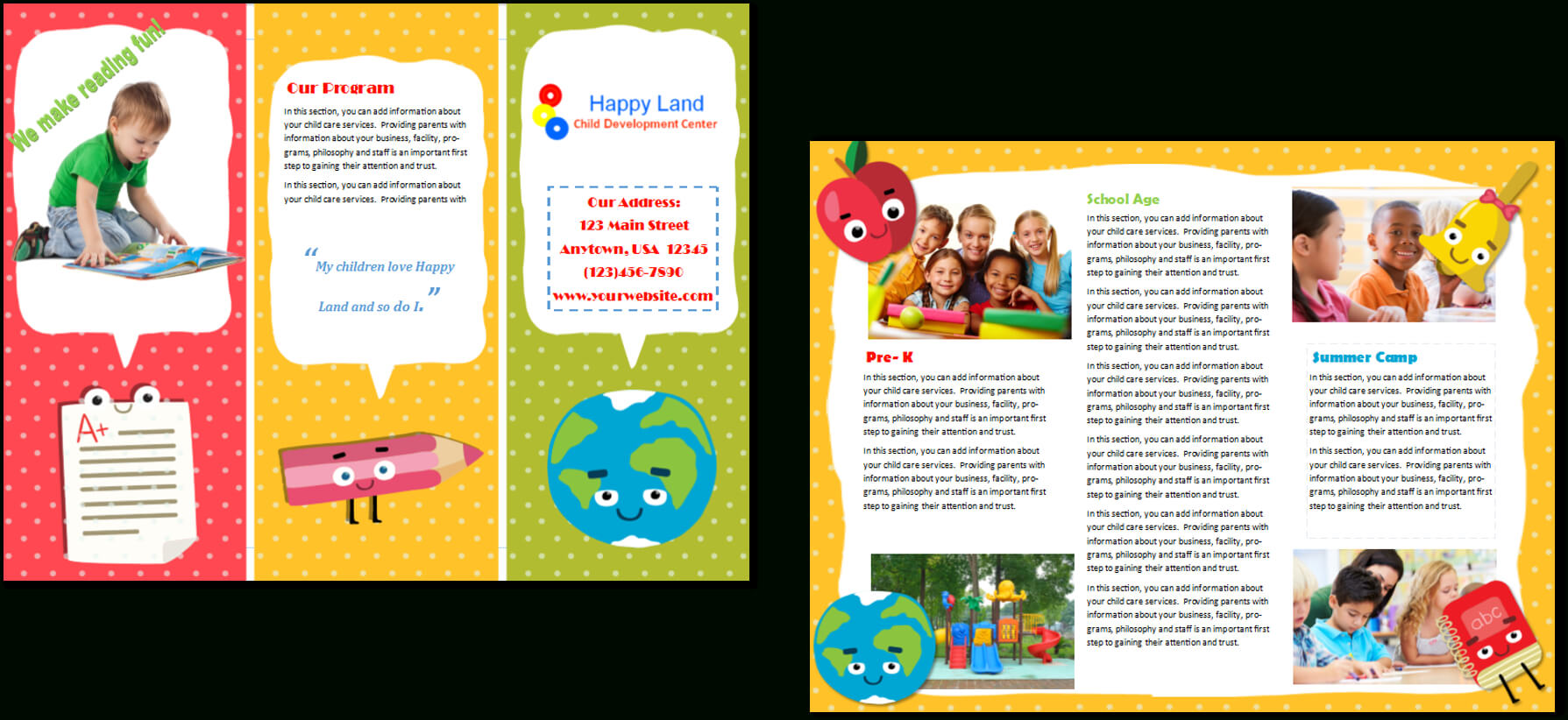 Image Result For Daycare Letterhead | Home Daycare With Regard To Daycare Brochure Template
