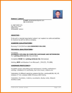 Image Result For Driver Cv Format | Cv Examples | Free throughout Free Basic Resume Templates Microsoft Word
