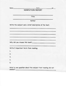 Image Result For Nonfiction Book Report Template College inside Nonfiction Book Report Template