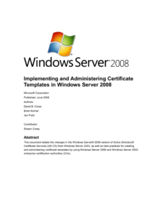 Implementing And Administering Certificate Templates pertaining to Active Directory Certificate Templates