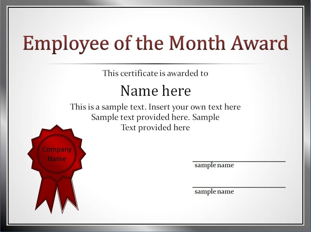 Impressive Employee Of The Month Award And Certificate For Best Employee Award Certificate Templates