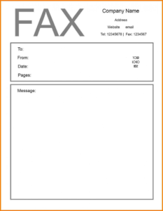 Impressive Fax Cover Sheet Template Ideas Free Word 2010 for Fax Cover Sheet Template Word 2010