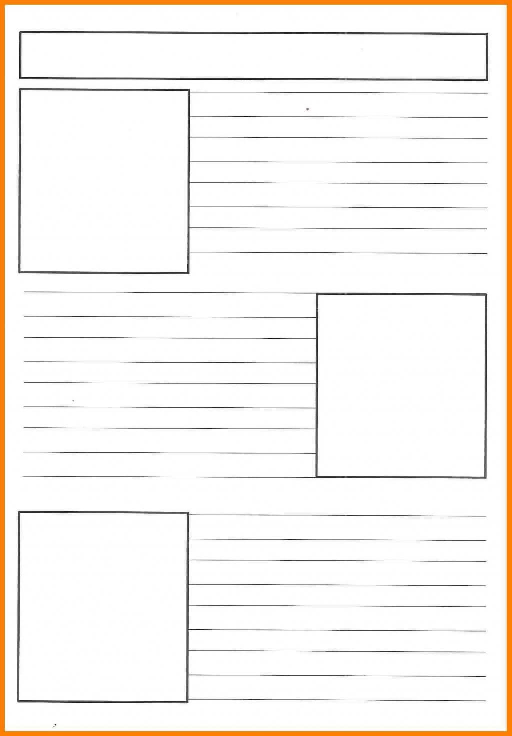 Impressive Printable Newspaper Template Word Application Inside Blank Newspaper Template For Word