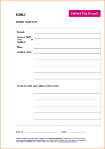Incident Report Sample Word Information Security Reporting intended for Incident Report Template Uk