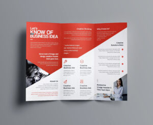 Indesign Bi Fold Brochure Template Free A4 Bifold Download Within Brochure Template Indesign Free Download
