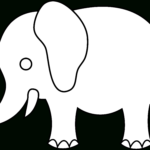 Indian Elephant Line Drawing | Free Download Best Indian For Blank Elephant Template