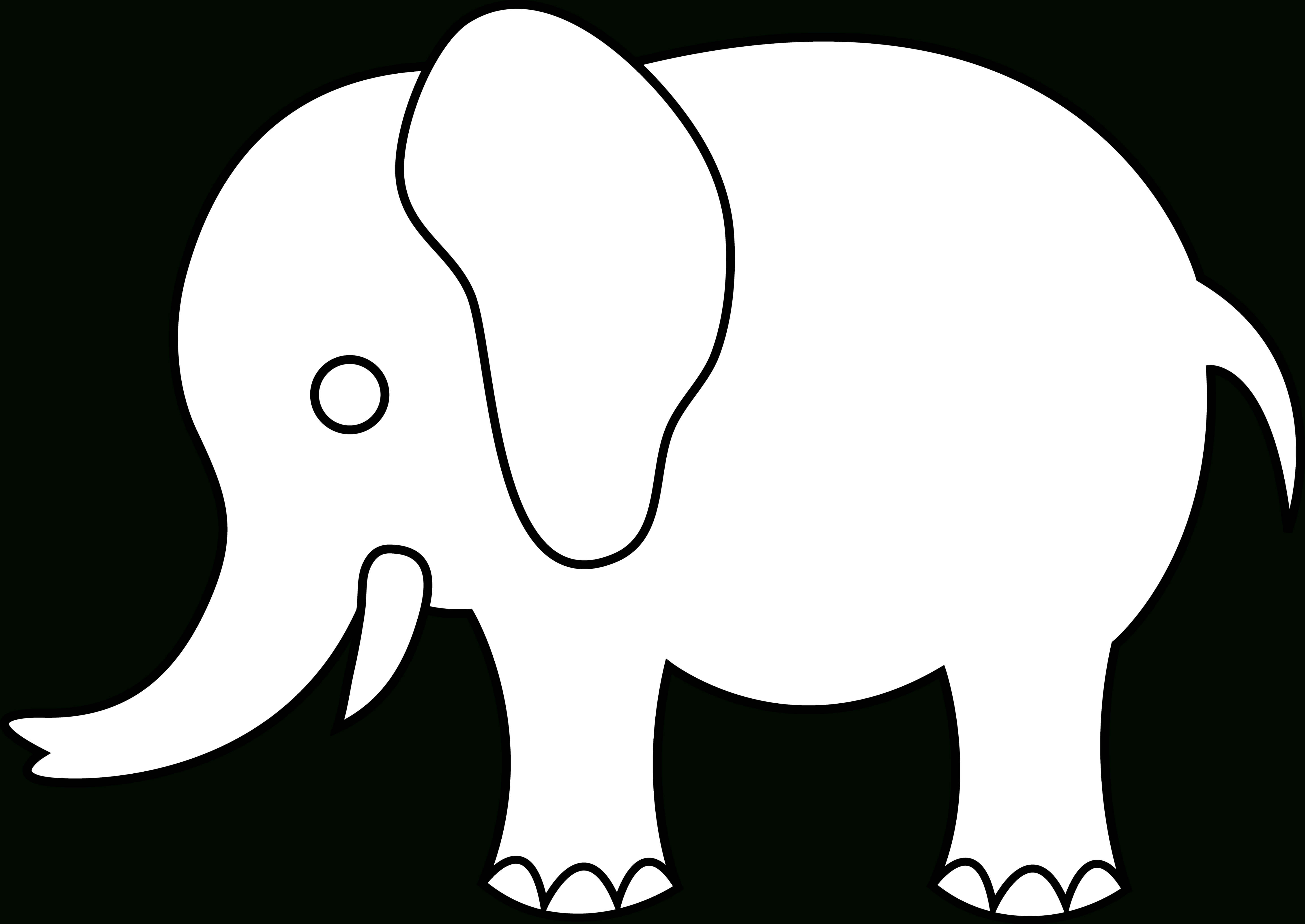 Indian Elephant Line Drawing   Free Download Best Indian For Blank Elephant Template
