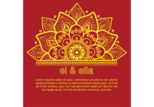 Indian Wedding Card Template – Download Free Vectors inside Indian Wedding Cards Design Templates