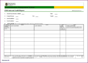 Information Technology Audit Report Template Word | Glendale in Audit Findings Report Template