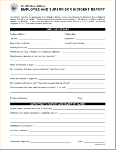 Information Technology Incident Report Example And inside Ssae 16 Report Template