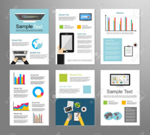 Information Technology Or Business Infographic Elements. It Background pertaining to Technical Brochure Template