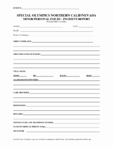 Injury Ent Report Template Employee Form E2 80 93 Ecux Eu inside Injury Report Form Template