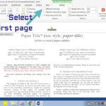 Insert Header Footer In Ms Word For Ieee Camera Ready Manuscript Inside Ieee Template Word 2007