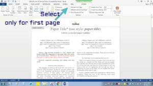 Insert Header Footer In Ms-Word For Ieee Camera Ready Manuscript inside Ieee Template Word 2007