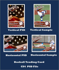 Inspirational Baseball Card Template Photoshop Free | Best Inside Baseball Card Template Psd
