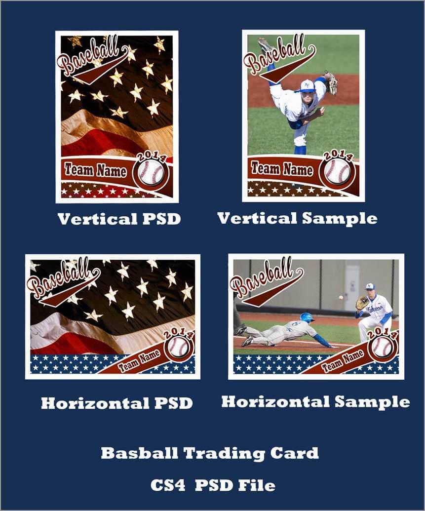 Inspirational Baseball Card Template Photoshop Free | Best Inside Baseball Card Template Psd