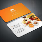 Inspirational Food Business Cards Templates Free | Philogos With Restaurant Business Cards Templates Free