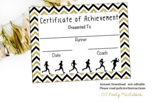 Instant Download – Cross Country Certificate – Track And Field – Running  Certificate – Jog-A-Thon Printable – Running Achievement with Track And Field Certificate Templates Free