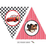 Instant Download - Printable Cars Themed Happy Birthday with Cars Birthday Banner Template