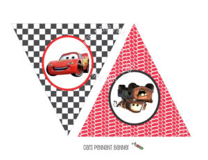 Instant Download – Printable Cars Themed Happy Birthday With Cars Birthday Banner Template