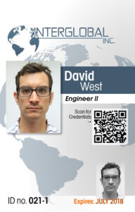 Interglobal Portrait Id Card With Qr Code Credential with regard to Portrait Id Card Template