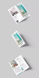 Interior Design Bi Fold Dl Brochure Template Psd | Brochure Inside Hotel Brochure Design Templates
