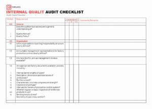 Internal Audit Checklist Template Pictimilitude 15 Templates for Internal Control Audit Report Template