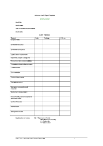 Internal Audit Report Template – Download This Internal with regard to Audit Findings Report Template