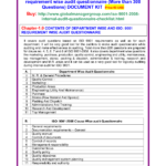 Internal Quality Management System Audit Checklist Iso 9001 Throughout Internal Audit Report Template Iso 9001