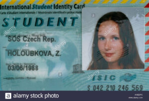 International Student Card Stock Photos & International throughout Isic Card Template