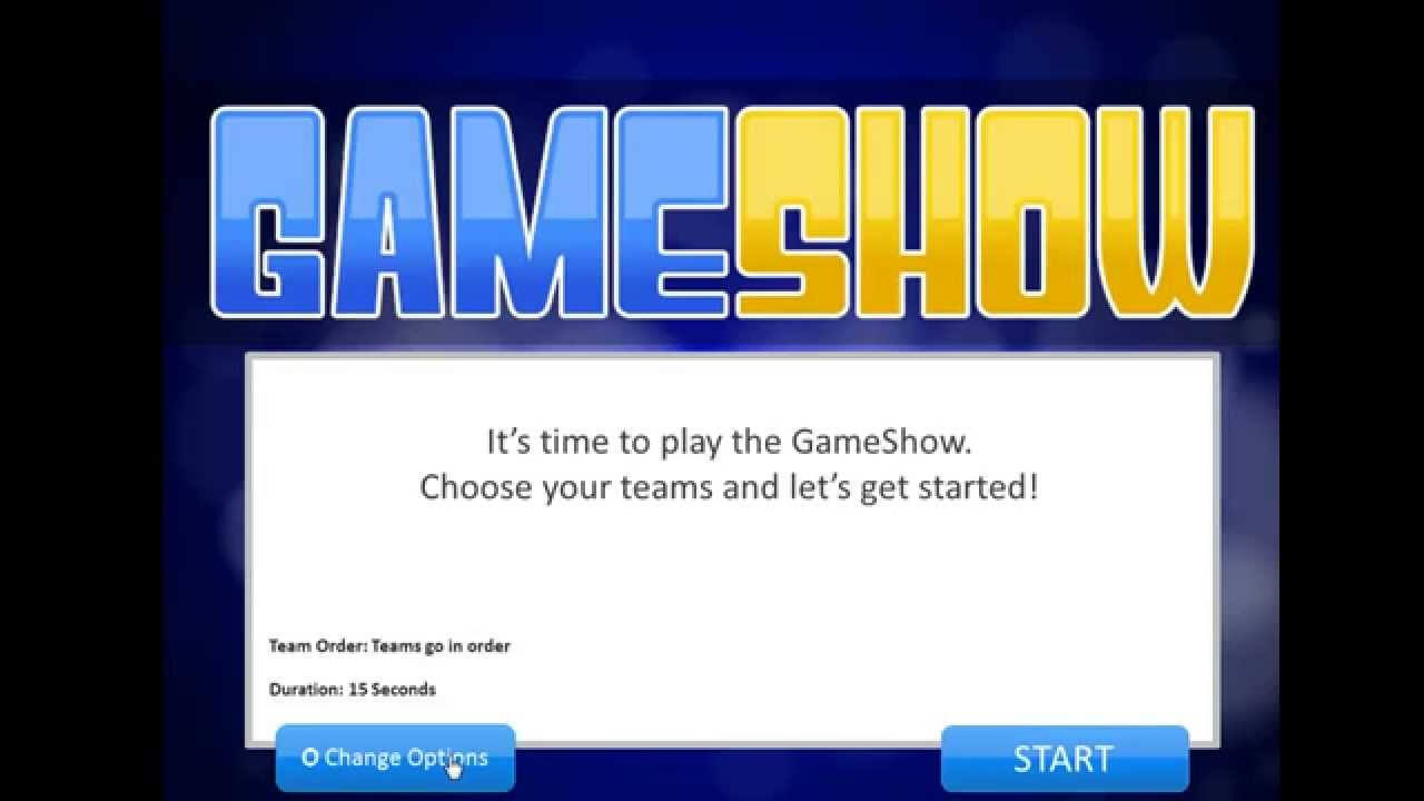 Introduction To The Powerpoint Gameshow Template Pertaining To Quiz Show Template Powerpoint