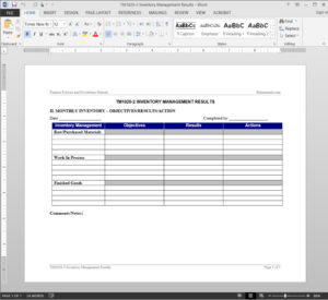 Inventory Management Report Template | Tm1020-2 with It Management Report Template