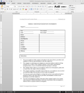 Investigation Report Template | Emb500-1 with regard to Hr Investigation Report Template