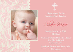 Invitation Card For Christening : Invitation Card For for Blank Christening Invitation Templates