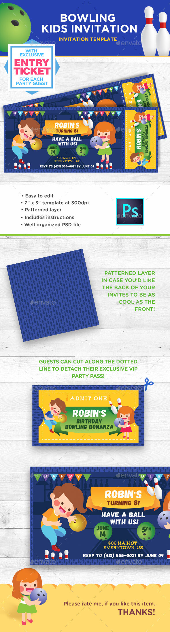 Invitation Templates From Graphicriver With Regard To Sweet 16 Banner Template