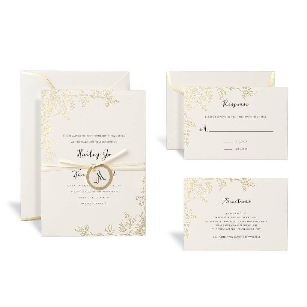 Invitations & Programs | Wedding | Wedding Invitation Kits With Celebrate It Templates Place Cards
