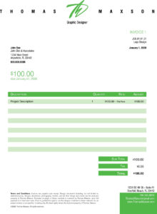 Invoice Like A Pro: Design Examples And Best Practices inside Web Design Invoice Template Word
